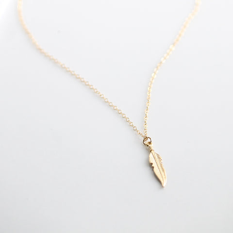 Feather Charm Necklace | Little Hawk Jewelry