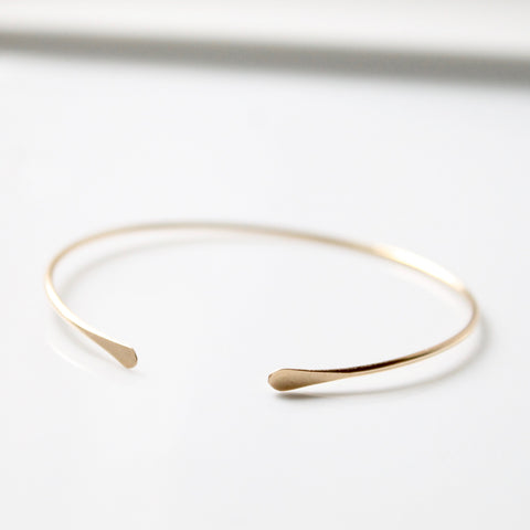 Dainty Gold Bangle | Little Hawk Jewelry