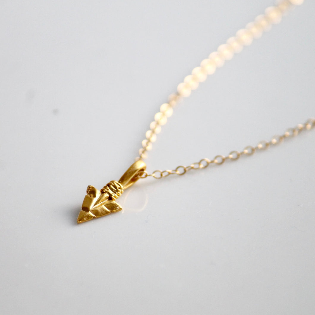 Arrowhead Charm Necklace | Little Hawk Jewelry