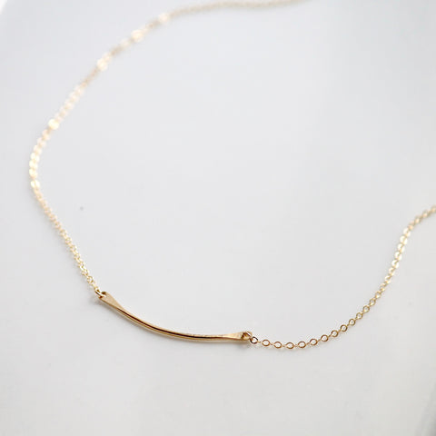 Hammered Curve Necklace | Little Hawk Jewelry