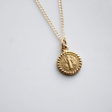 Religious Coin Necklace | Little Hawk Jewelry