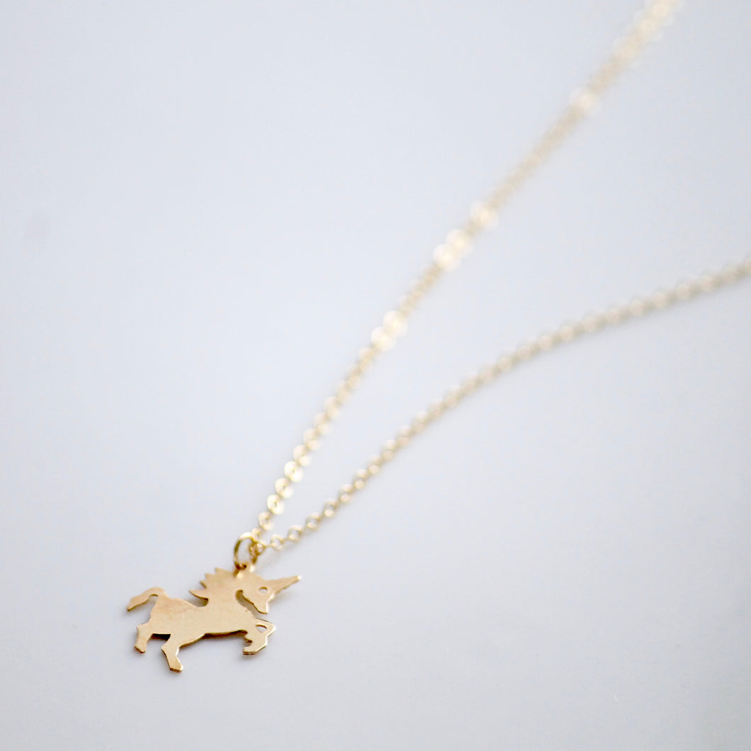 Gold Unicorn Necklace | Little Hawk Jewelry