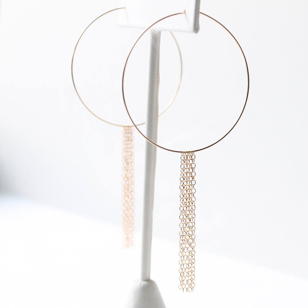 Hoop Fringe Earrings | Little Hawk Jewelry | Hoop Earrings