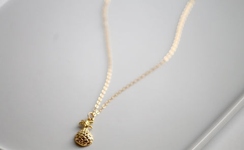 Gold Filled Pineapple Necklace | Little Hawk Jewelry