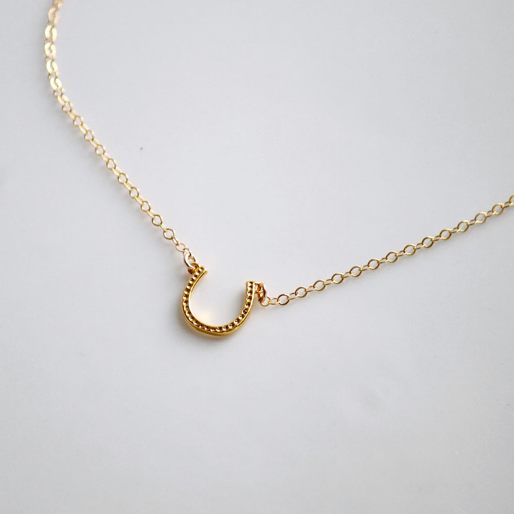 Gold Horseshoe Necklace | Little Hawk Jewelry