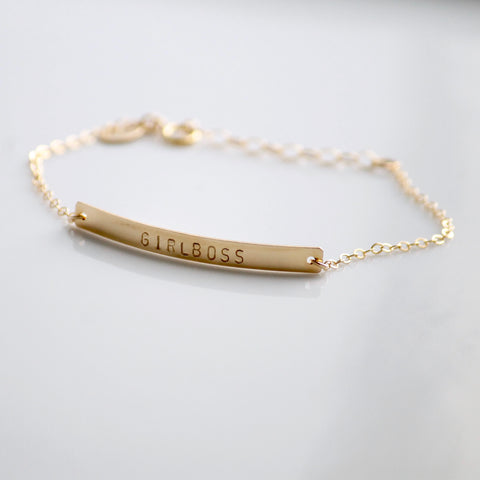 GIRLBOSS Bracelet | Custom Jewelry | Little Hawk Jewelry