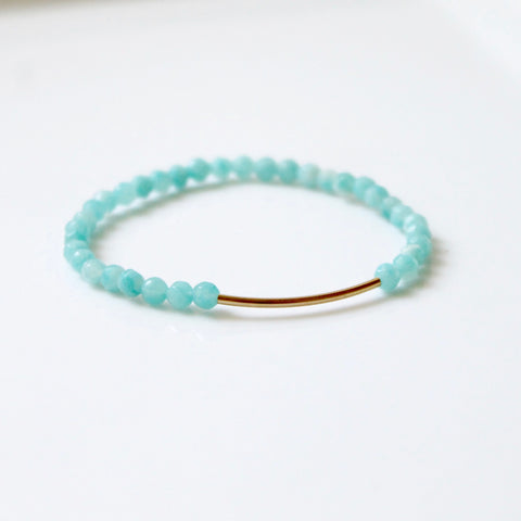Green Amazonite Bar Bracelet