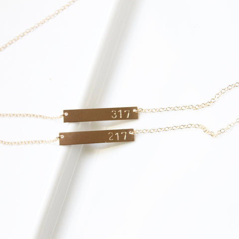 Hometown Pride Area Code Necklaces | Little Hawk Jewelry