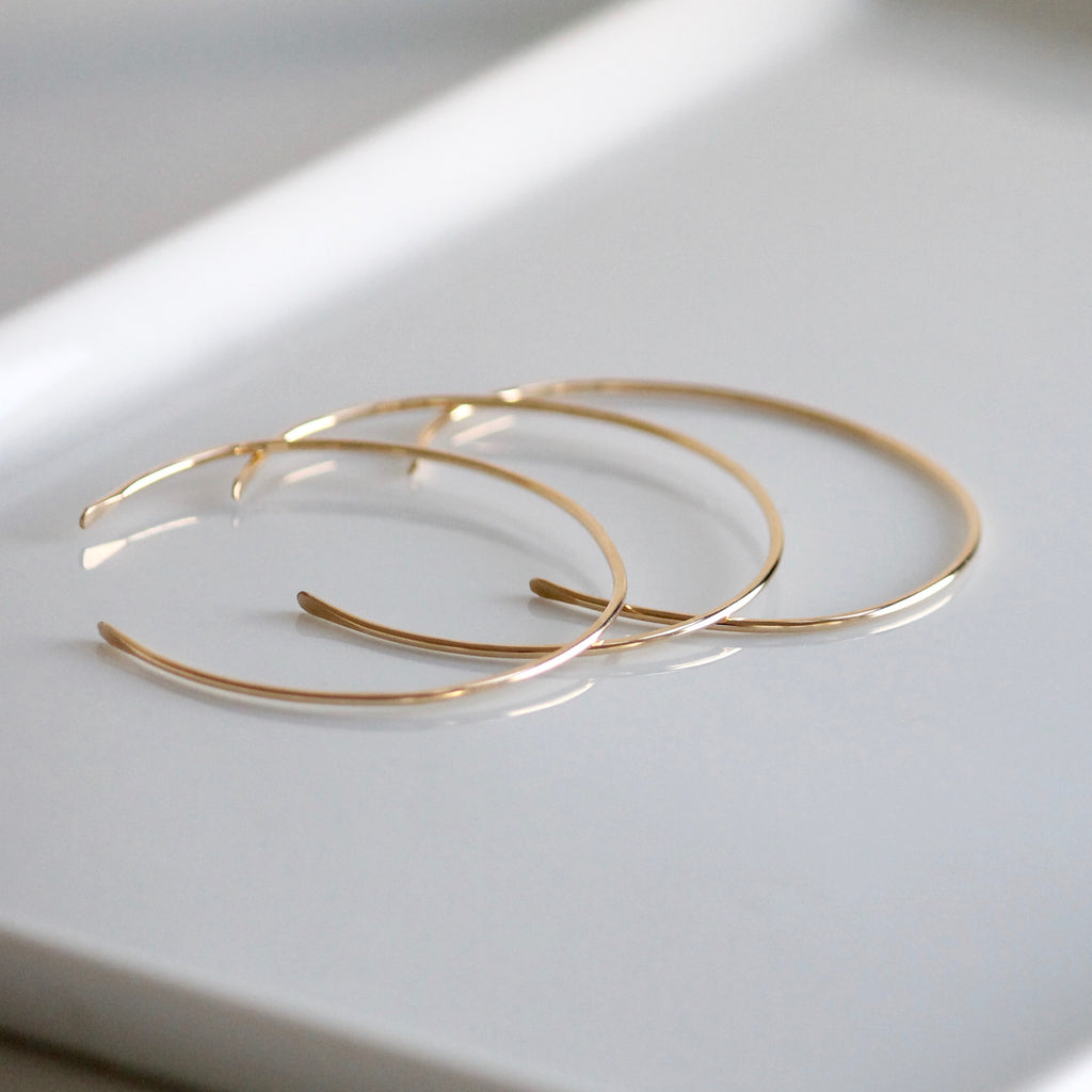 Dainty Gold Bangle | Gold Filled | Little Hawk Jewelry