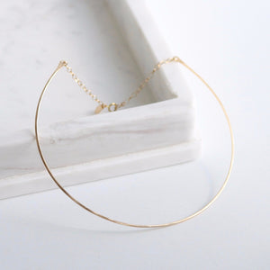 Dainty Gold Choker | Little Hawk Jewelry | Hammered 14k Gold Filled
