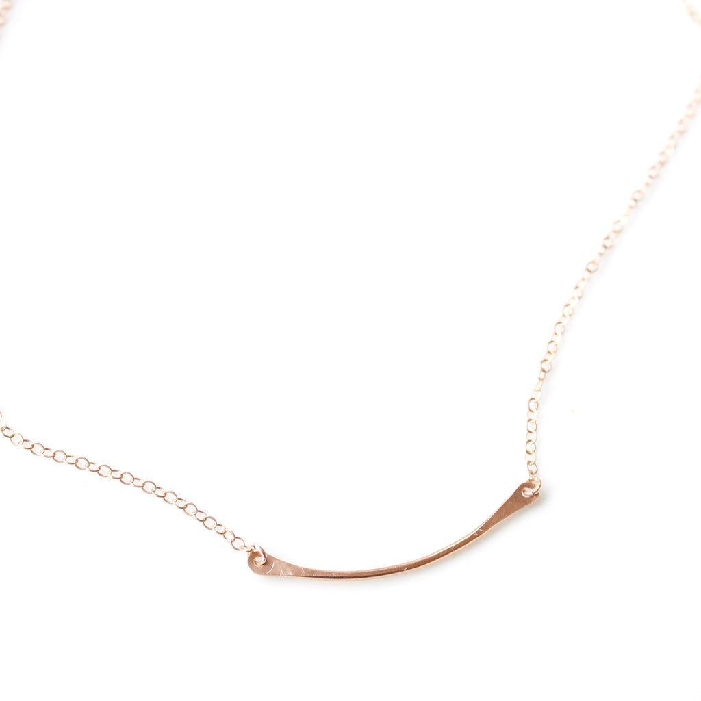 Little Hawk Jewelry - hammered bar necklace