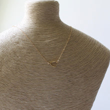Load image into Gallery viewer, Sideways Wishbone Necklace - 14k Gold Filled