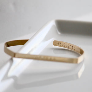 Personalized Gold Bangle Bracelet | Little Hawk Jewelry