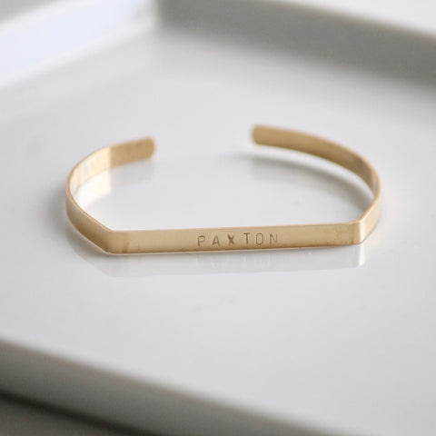 Personalized Hammered Bracelet | Little Hawk Jewelry