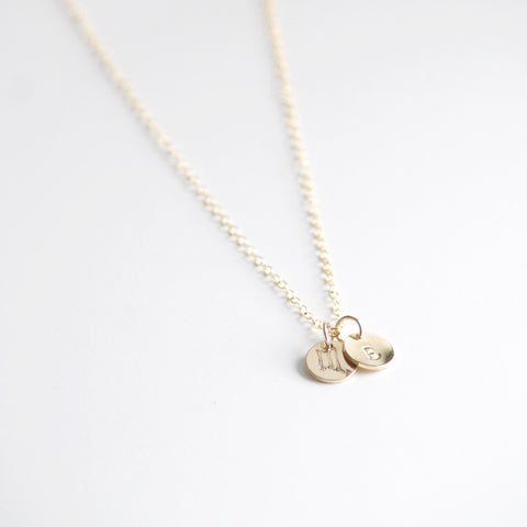 Little Hawk Jewelry | Initial Charm Necklace