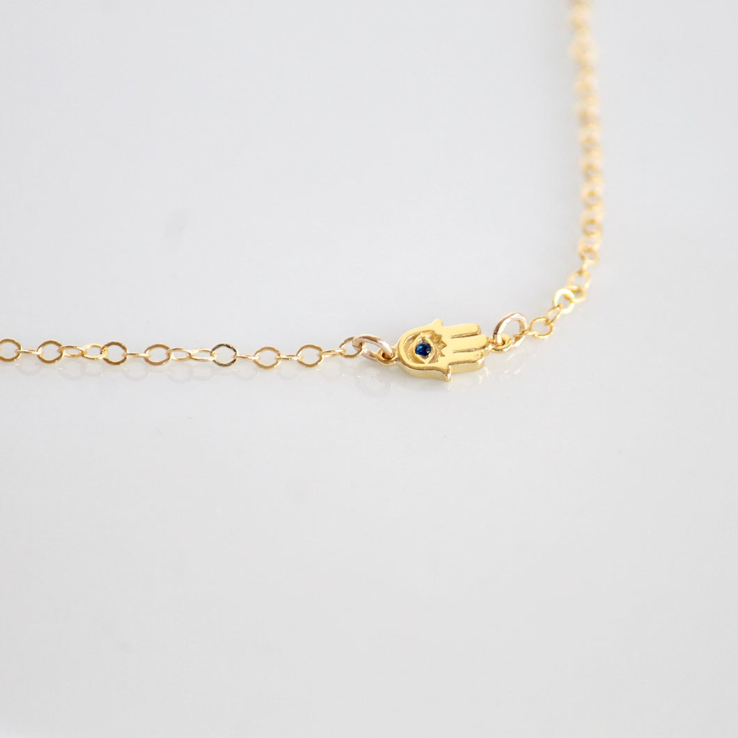 Hamsa Necklace by Little Hawk Jewelry | $44 | 14k Gold filled