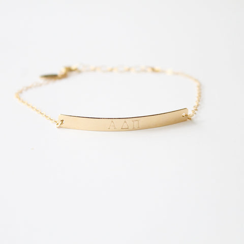 ALPHA DELTA PI Bracelet - Little Hawk Jewelry - Official Licensed Designer