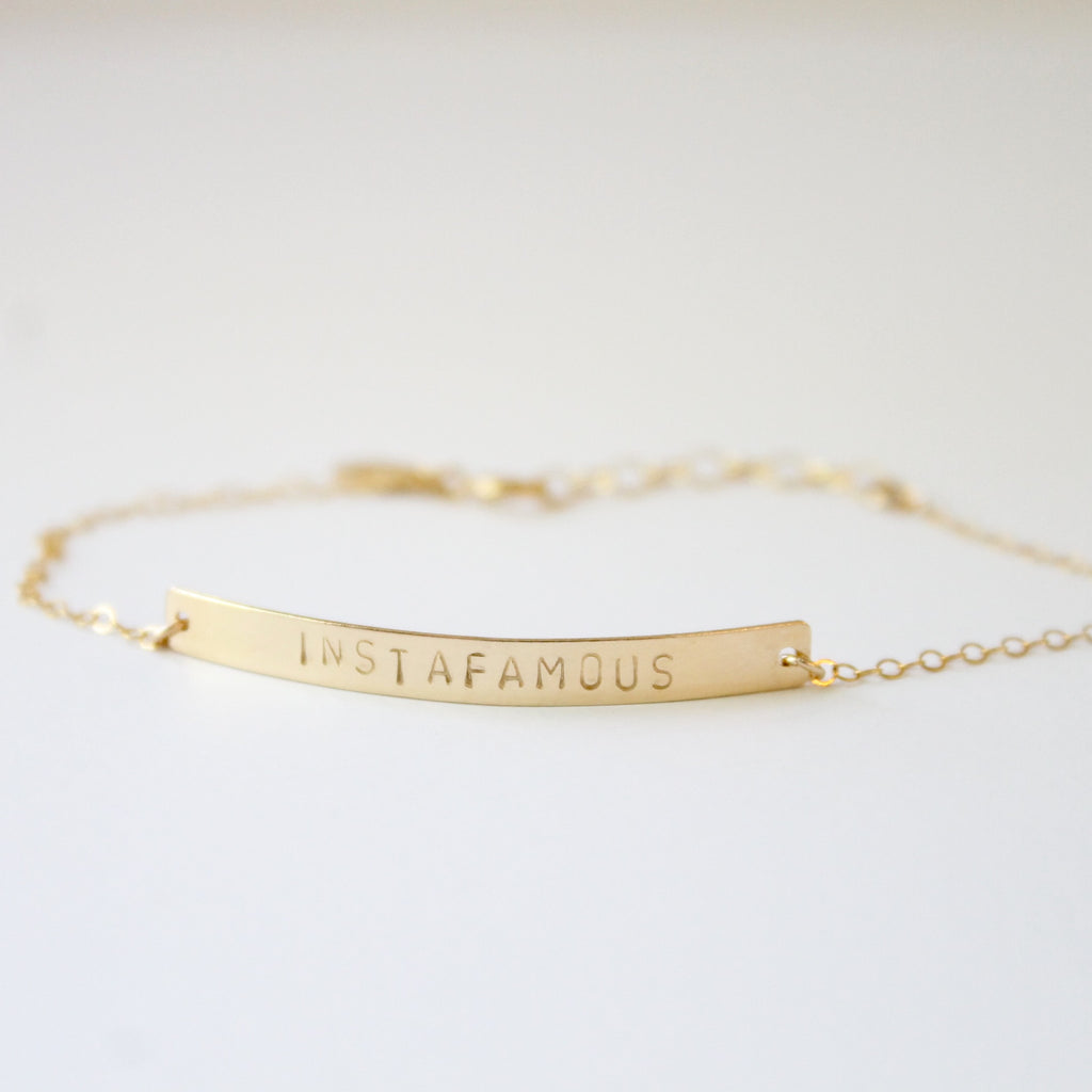 INSTAFAMOUS Bar Bracelet | Little Hawk Jewelry