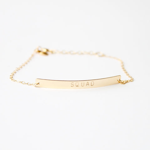 SQUAD Bar Bracelet - 14k Gold Filled and Sterling Silver