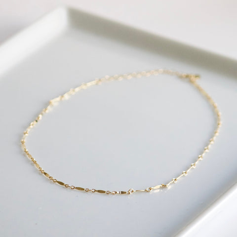 www.LittleHawkJewelry.com | Bar Choker Necklace