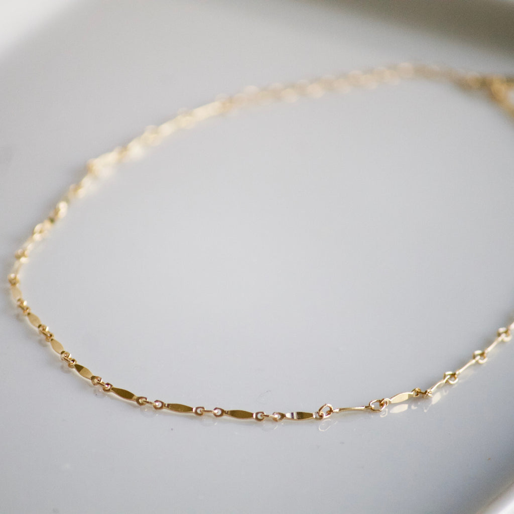Bar Choker Necklace | Little Hawk Jewelry | Delicate Gold Jewelry