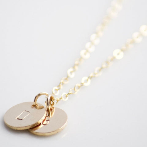 Classic Initial Disc Necklace