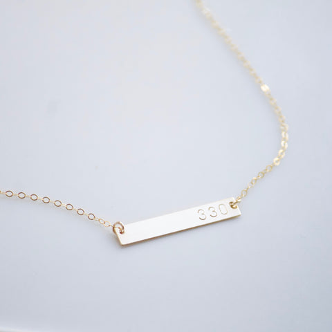 Area Code Necklace | Little Hawk Jewelry