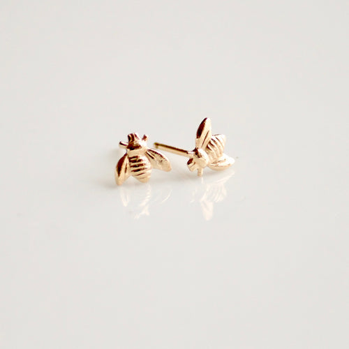 Gold Bee Earrings | Little Hawk Jewelry Earrings