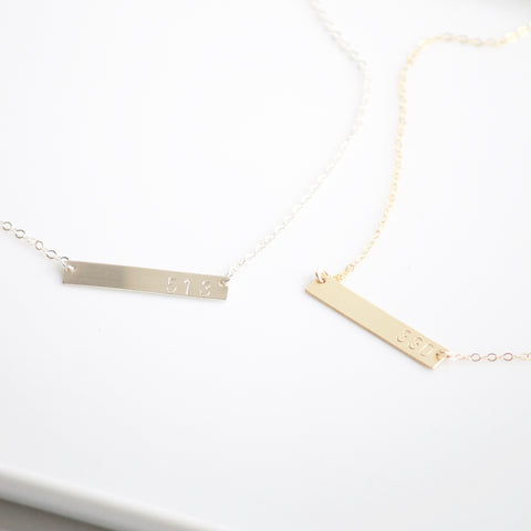 Custom Bar Necklaces | Little Hawk Jewelry