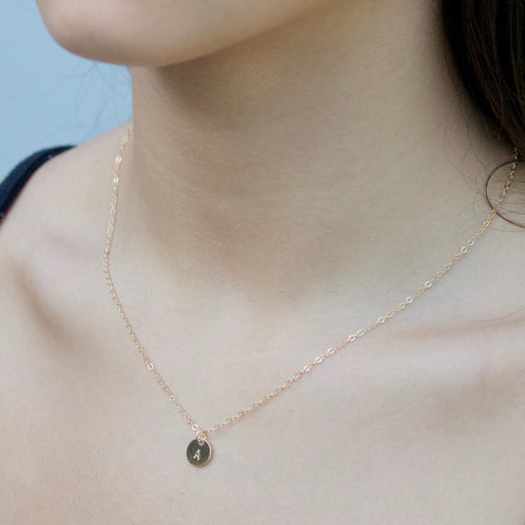 Little Hawk Jewelry Initial Necklace | Gold and Silver