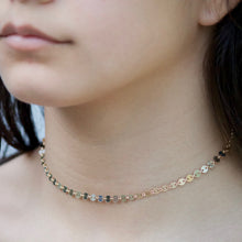 Load image into Gallery viewer, Sequin Chain Choker - Gold and Sterling Silver