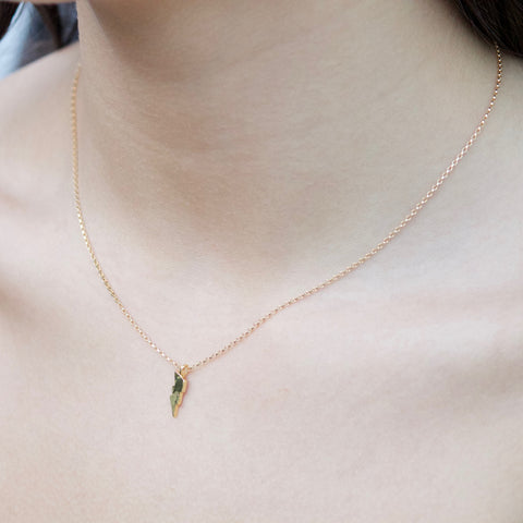 Petite Lightning Bolt Charm Necklace