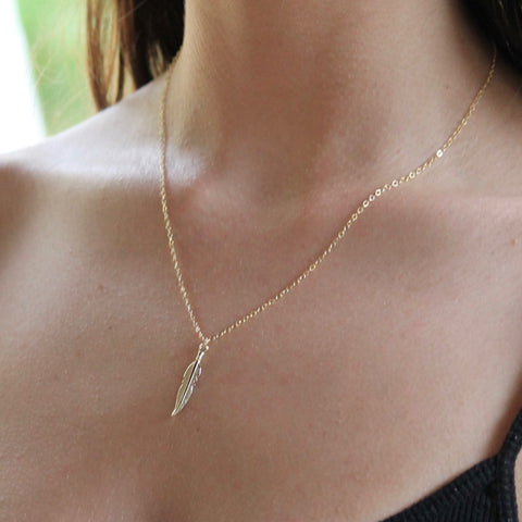 Feather Necklace | Boho Summer Style | Little Hawk Jewelry
