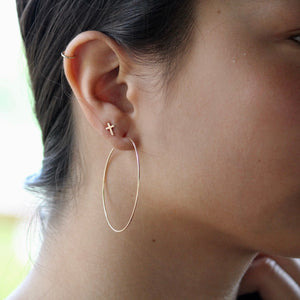 Gold Hoop Earrings | Delicate Earrings | Little Hawk Jewelry