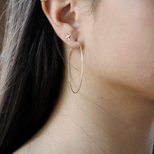 Load image into Gallery viewer, Dainty Hoop Earrings | Gold | Little Hawk Jewelry