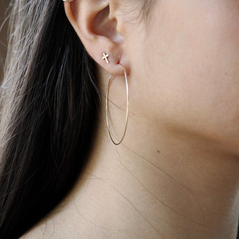 Hoop Threader Earrings | Dainty Earrings | 14k Gold Filled
