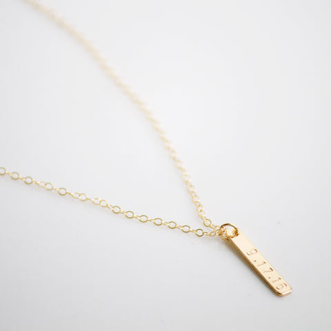 Petite Vertical Bar Necklace