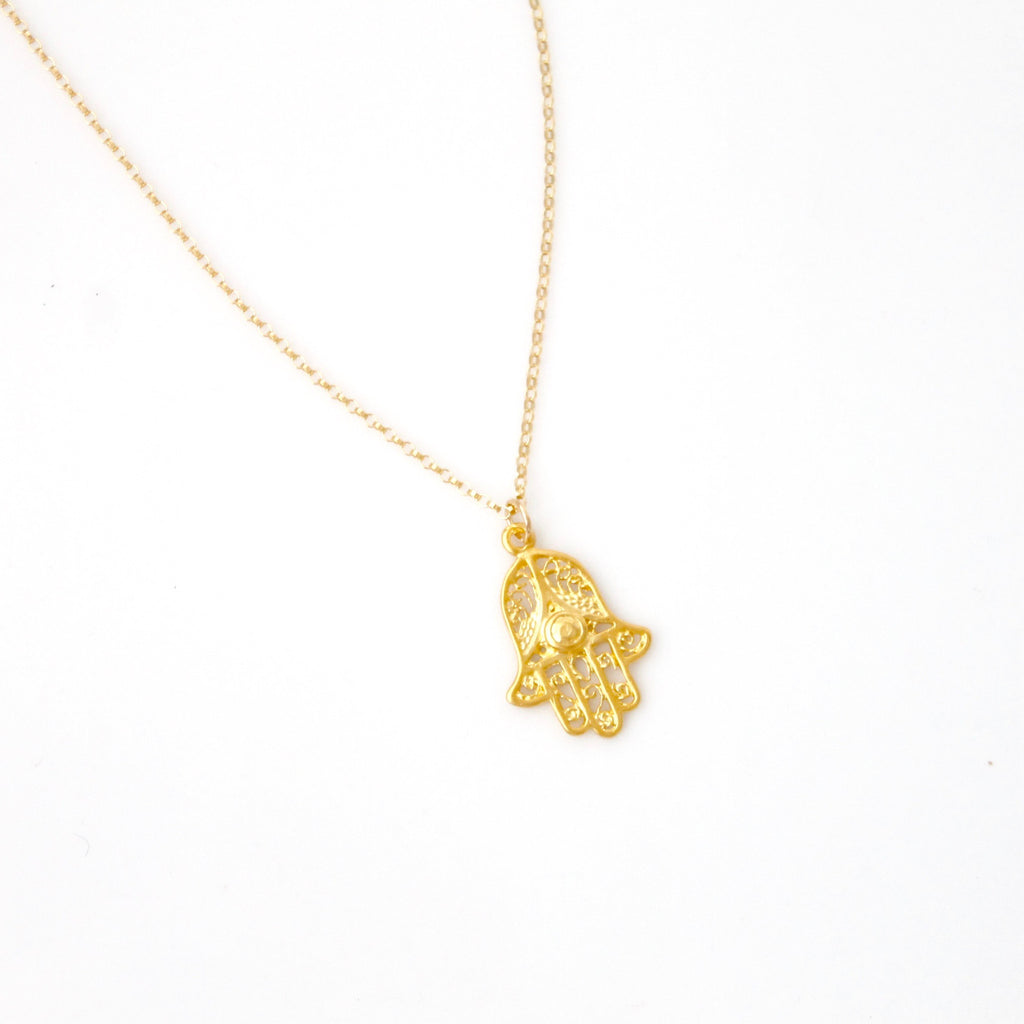 Hamsa Necklace - 14k Gold Filled