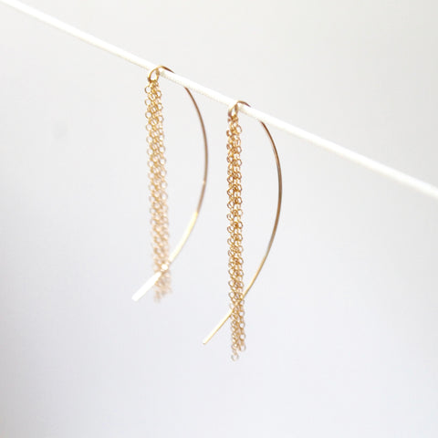 Little Hawk Jewelry Fringe Threader Earrings