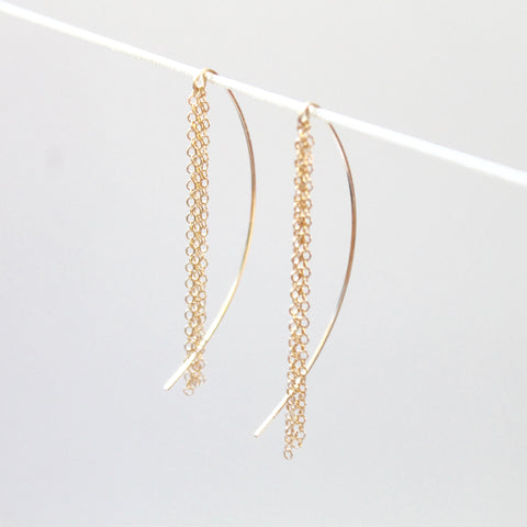 Gold Threader Earrings | Little Hawk Jewelry
