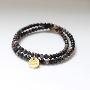 Double Wrap Beaded Zodiac Bracelet