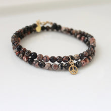 Load image into Gallery viewer, Double Wrap Beaded Zodiac Bracelet