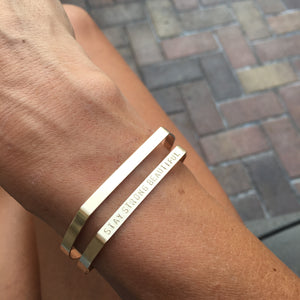 Modern Cuff Bracelets | Gold Filled and Sterling Silver | Little Hawk Jewelry