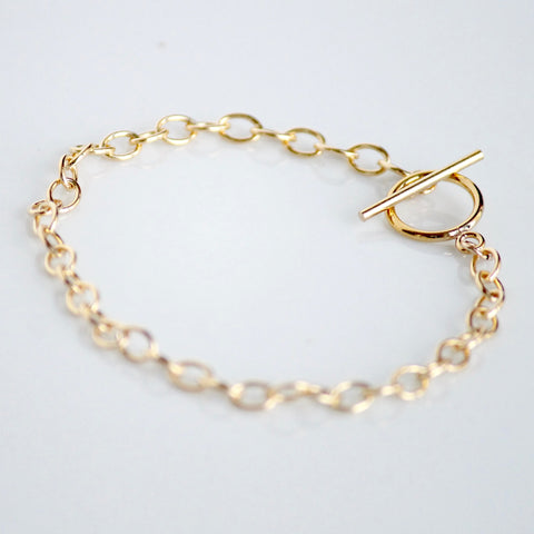 Chunky Gold Bracelet by Little Hawk Jewelry | Gold Filled Jewelry