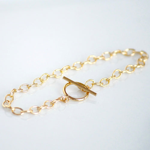 Gold Toggle Bracelet | Little Hawk Jewelry