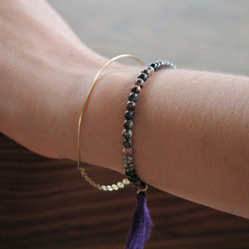 Half moon Bracelet in gold filled | Little Hawk Jewelry