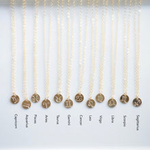 Load image into Gallery viewer, Zodiac Symbols by Sign | Little Hawk Jewelry | Zodiac Necklace