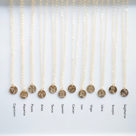 Zodiac Symbols by Sign | Little Hawk Jewelry | Zodiac Necklace