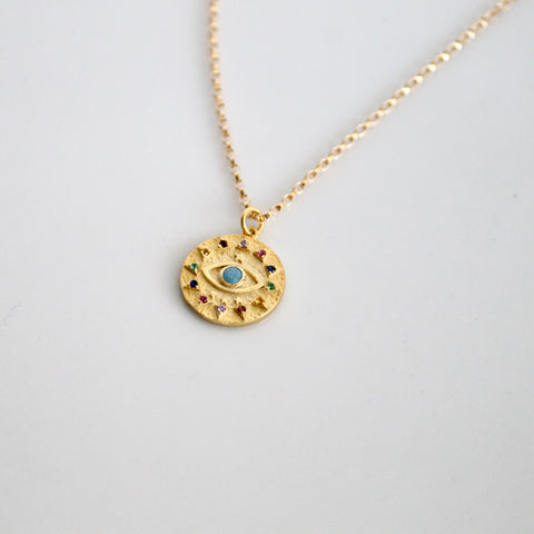 Evil Eye Coin Necklace