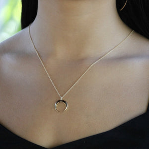 Crescent Necklace Gold Filled | Little Hawk Jewelry